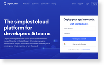 Digitalocean, LLC - Скриншот сайта