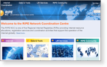 Ripe Network Coordination Centre - Скриншот…